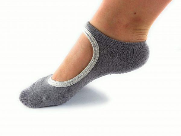WeWee Yoga Socken mit Komfortzone - 2 Paar Grau+Grau